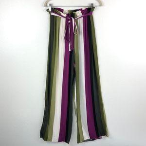 f4ec1c1a0690 LA Gypsy Striped Wide Leg Palazzo Pants